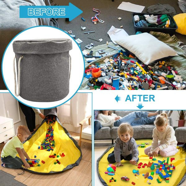 toy storage bag before and after